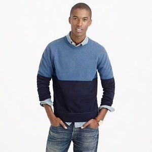 J. Crew Pieced Colorblock Sweatshirt in Gray XL